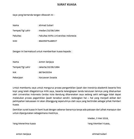 Cara Membuat Surat Kuasa Pengambilan Ijazah | Suratresmi.com