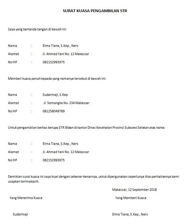 Surat Kuasa Dinas
